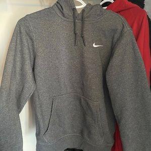 Grey Nike pullover hoodie
